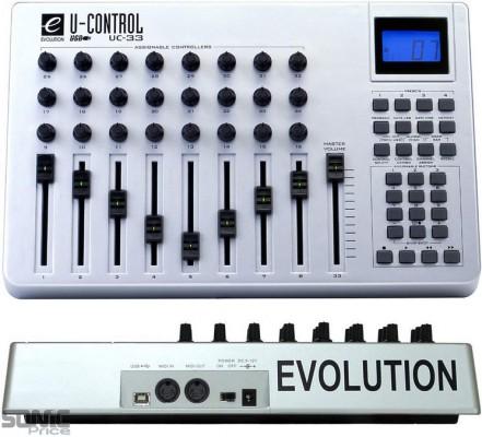 Controlador MIDI UC33