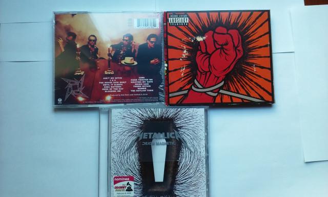 METALLICA cds+ dvd