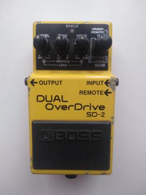 Pedal de guitarra Boss Dual Overdrive SD-2.
