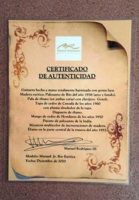 Guitarra Manuel Rodriguez Manuel Jr. Río Exótica