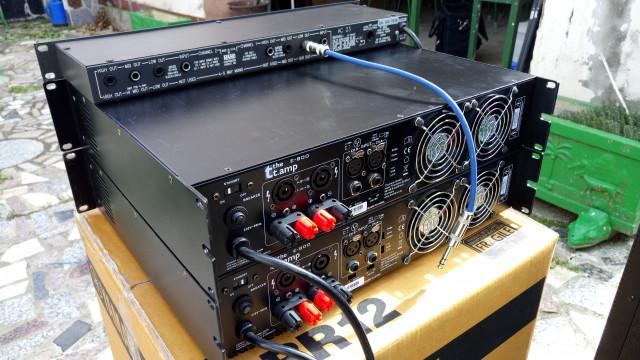 Equipo de P. A. 1.500W RMS con sub Achat 118, Yamahas CBR12 y etapas T. Amp