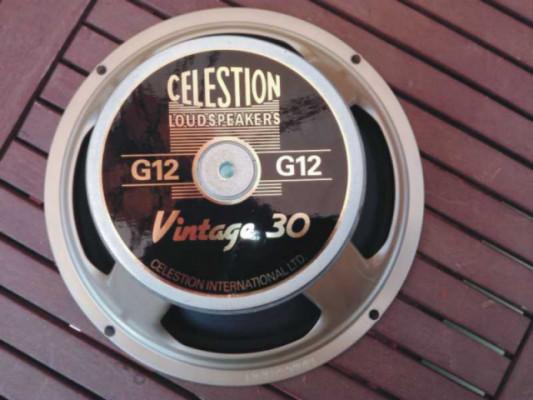 """ALTAVOZ CELESTION G12 VINTAGE 30, T3903, 12"""", 60W. 8ohm."""