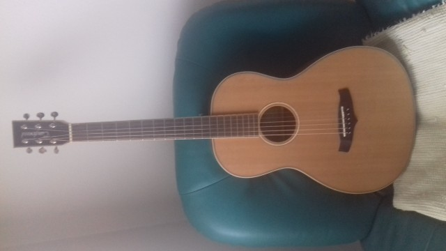 BAJADA!!GuitarraAcustica Tanglewood Parlo Fishman+ Funda+ Sordina