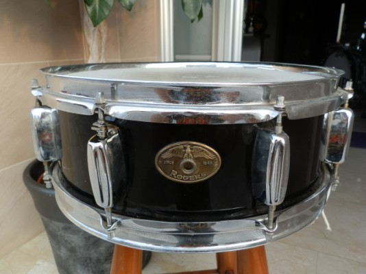 "Caja snare Rogers Holyday Eagle badge 1959 14""x5"" Vintage Drums"