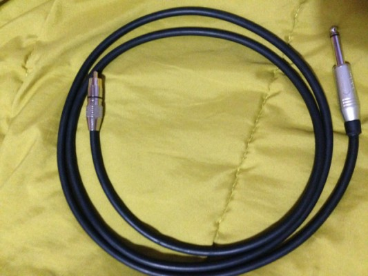 2 cables Amphenol 1.5m jack-RCA x 2 gama profesional a estrenar