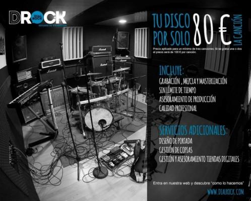 """Estudio de grabación """"DIAL ROCK"""" (Tu canción por 80 €uros) www.dialrock.com"""