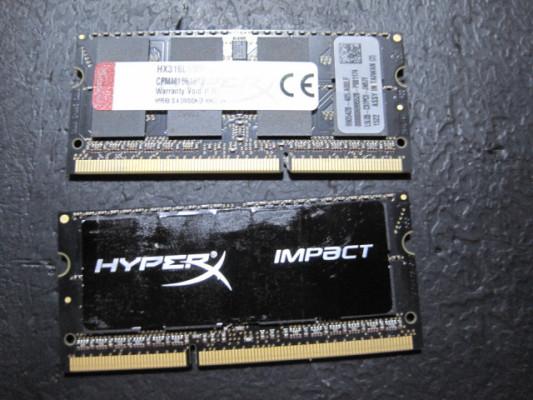 Kingston Hyperx impact 16Gb RAM Pc3-12800 para Mac