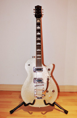 Gretsch Electromatic Pro Jet Sparkling silver con Bigsby