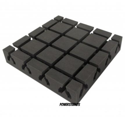 """oferta, caja de 10 paneles de absorción y mejoramiento acústico de diseño`40X 40X8 cm¡ Nuevos """" en Stock !"""