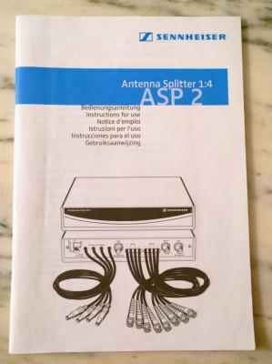 Manuales Sennheiser ew 300 G2 y ASP-2
