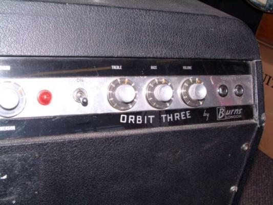 Vendo amplificador o cambio  de los 60! Burns Orbit Three