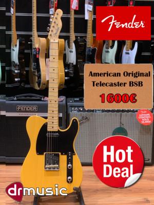 Fender American Original Telecaster Butterscotch Blonde -LIQUIDACIÓN-