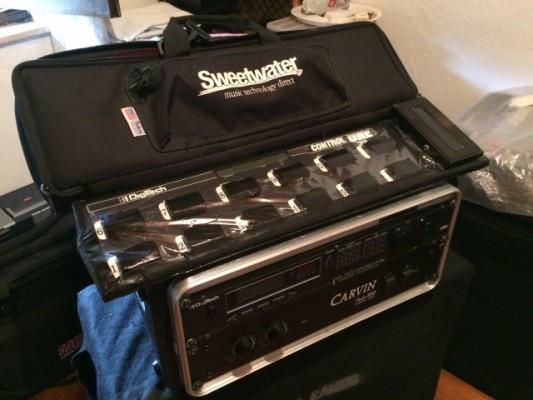 Digitech GSP 2101 + Etapa Stereo de Valvulas Carvin Tube100 + SKB