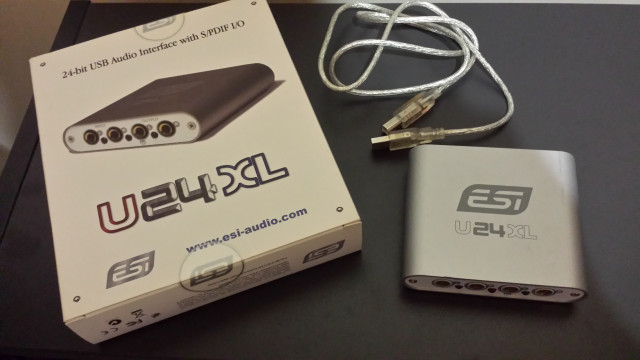 ESI U24XL USB audio interfaz