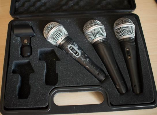 Set de 3 micrófonos dinámicos