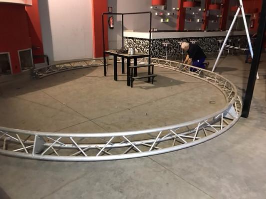 Truss Estructura modular guill CCT6 triangular 6 mt de diámetro