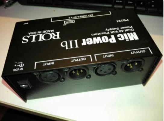 Alimentador phantom 48V portatil ROLLS PB224,