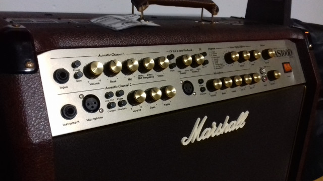 Marshall AS100D acústica con flight case