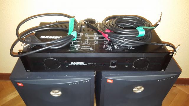 Altavoces JBL 4208 y etapa Samson SERVO 170