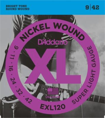 Cuerdas guitarra electrica Daddario EXL120