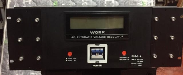 Vendo estabilizador de corriente Work EST-519