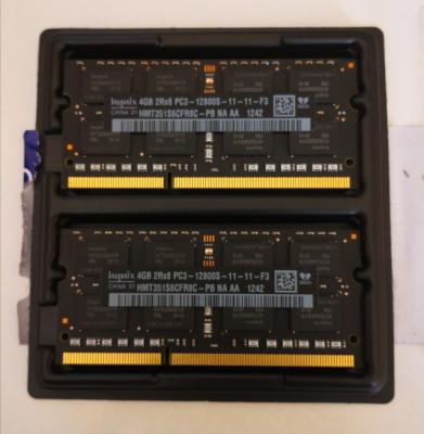 8Gb en 2 modulos de 4gb 2Rx8 PC3 - 12800S-11-11-F3