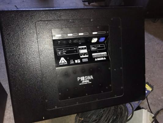 Master Audio P18SWA 1000W Autoamplificados