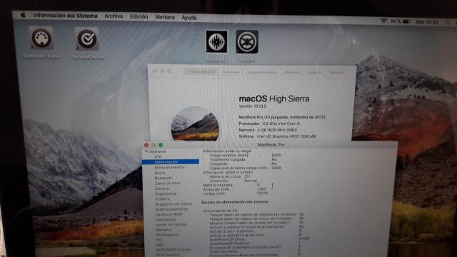 """macbook pro 13,3"""" mid2012  i5 250gb SSD  4gb RAM"""