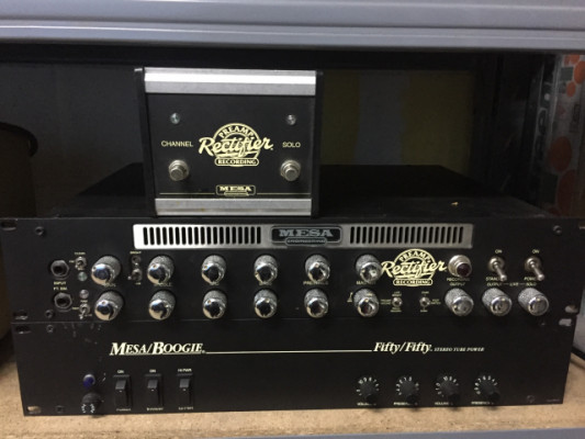Mesa Boogie Rectifier preamp recording + Fifty /Fifty amp + Footswitch