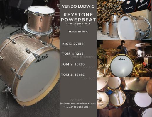 LUDWIG Keystone Powerbeat / COMO NUEVA
