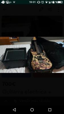 Fender squier + amplificador + funda