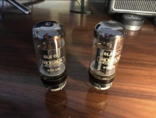 CAMBIO Set 2 válvulas Mesa Boogie 6L6 GC STR 430
