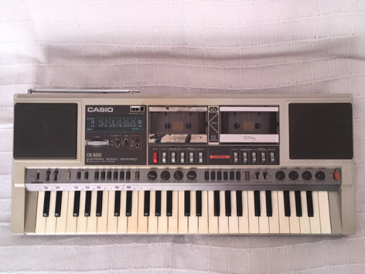 Casio CK-500 Am/FM Stereo Cassette Electronic Keyboard
