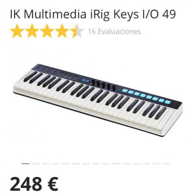 IK Multimedia iRig Keys I/O 49 + funda oficial