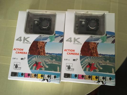 Cámara tipo GoPro 4K y accesorios
