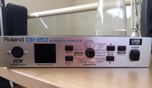 Interfaz MIDI para guitarra GI-20
