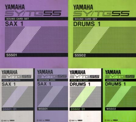 Yamaha SY/TG55 expansión SAX-1 + DRUMS-1