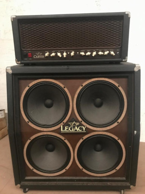 "Carvin Legacy 100 watts USA (Steve Vai) + pantalla 4x12"" original"
