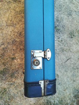 Estuche para bajo tolex azul - vintage