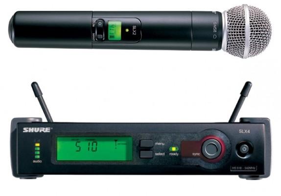 Sistema inalámbrico Shure Slx 4 – micrófono Sm 58