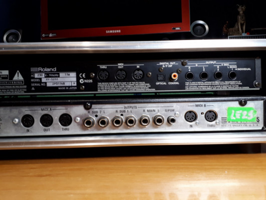 2 modulos:Roland XV-5050 y E-MU Vintage Pro