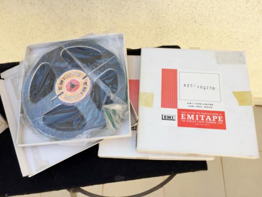 Bobinas audio EMI vintage de 1/4 para grabación o tape echos.