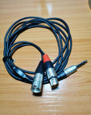 Cables para Insert Jack  estéreo a XLR macho + XLR hembra (x8)