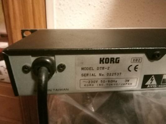 Afinador en rack Korg DTR-2
