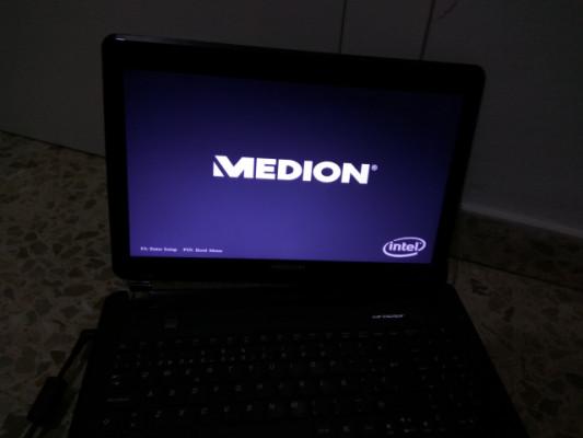 Medion portátil I7 2012 ordenador sin disco duro bisagra pantalla suelta
