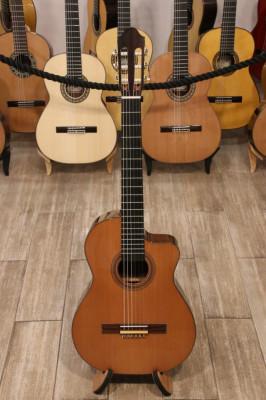 Guitarra Clásica Artesana Luthier Jean Luc Joie Amplificada con Cutaway