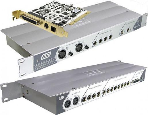 Interfaz de Audio/MIDI PCI 10/10-salida con Rack 19..ESI ESP1010