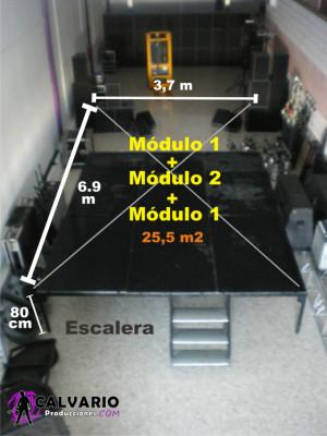 Escenario desmontable modular