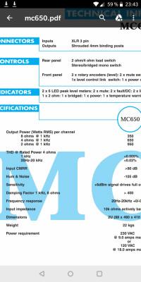 Etapa Mc2 MC 650 en perfecto estado