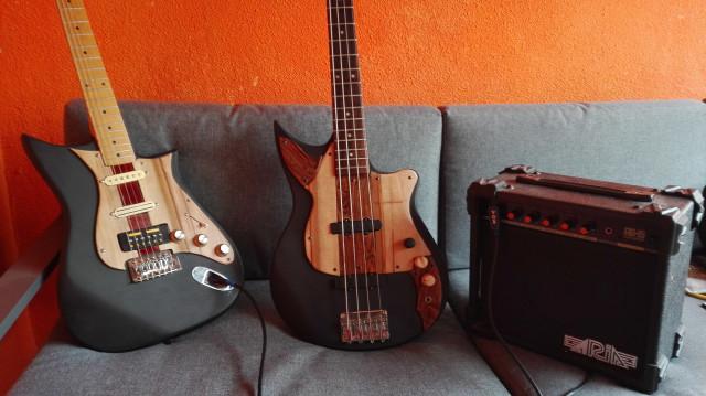 guitarra y bajo reformados